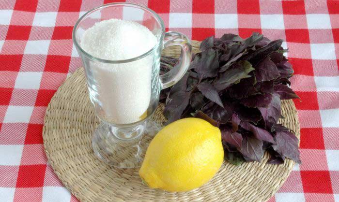 Рецепт компота с базиликом