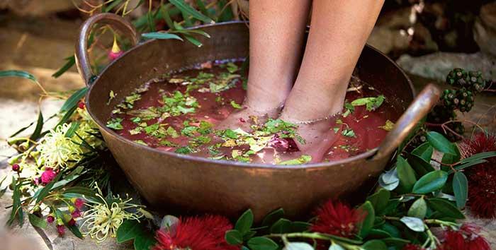 Ванночки для ног с котовником