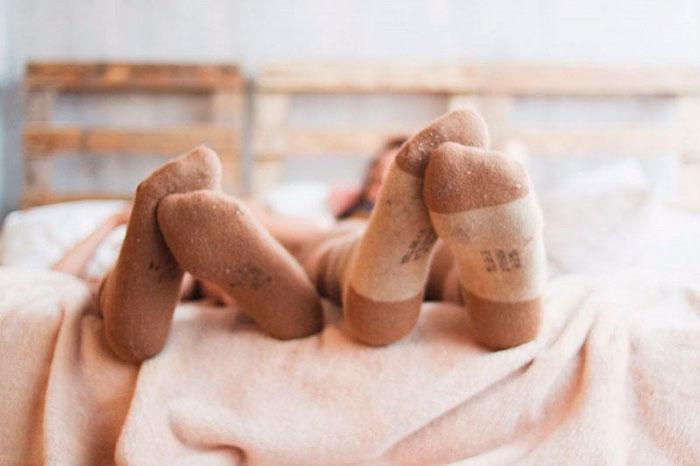 Носки с горчицей