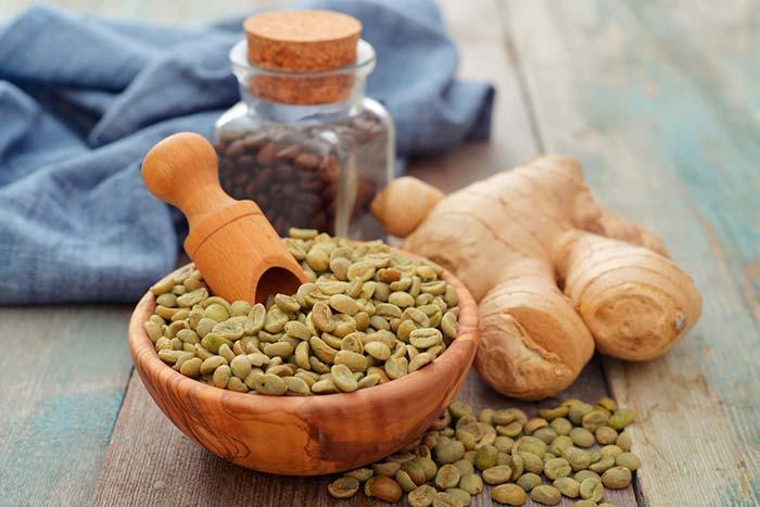 Зеленый кофе и имбирь для похудения