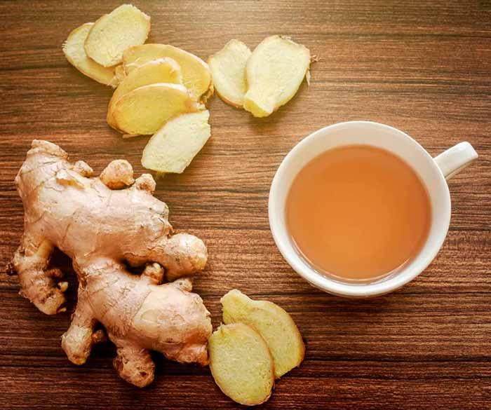 Чай с корицей и имбирем