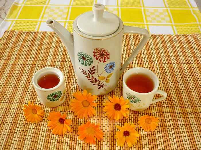 Как приготовить чай с календулой