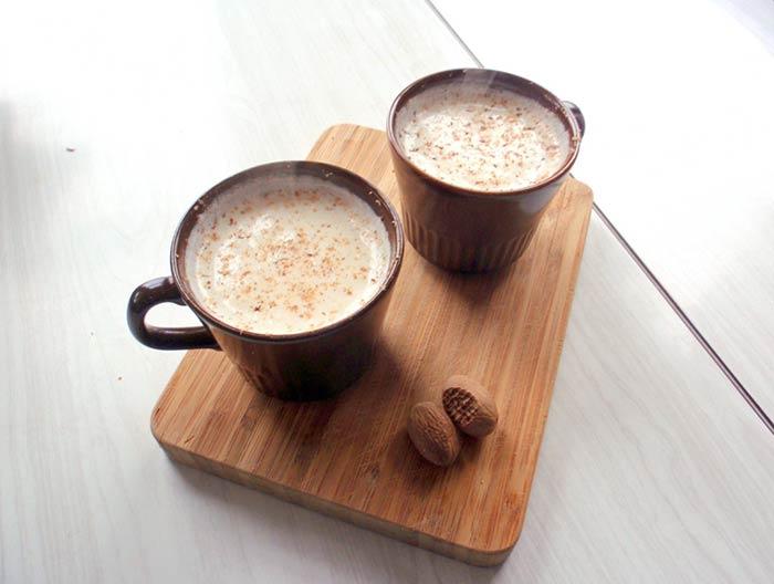 Мускатный орех с молочными продуктами