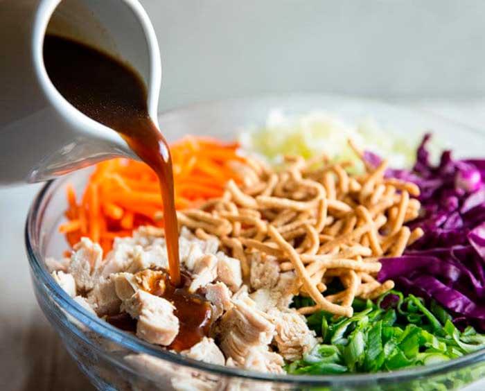 Салат с соевым соусом