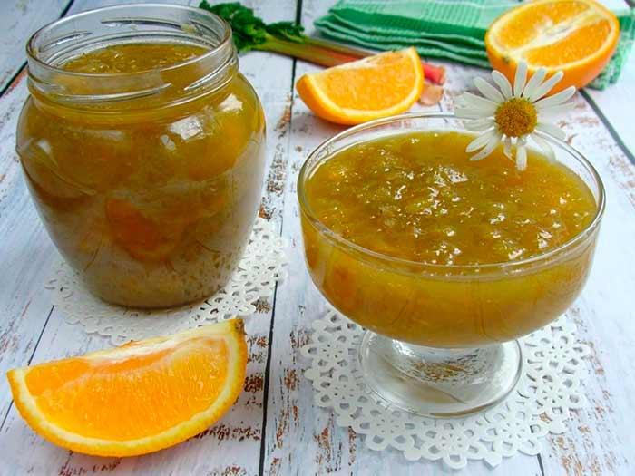 Варенье с апельсином и ревенем
