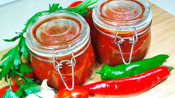 Аджика из томатной пасты